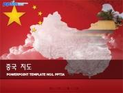 중국 지도 템플릿