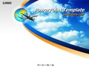 비행기와 하늘 템플릿