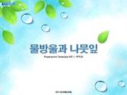 물방울과 나뭇잎 템플릿