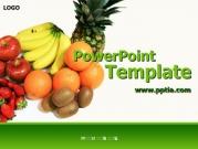 사과, 딸기, 키위, 오렌지, 바나나, 파인애플 A 템플릿