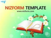 성경책과 면류관 템플릿
