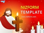 십자가촛불과 예수님 템플릿